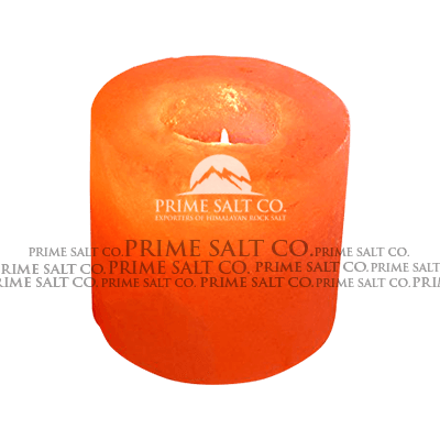 Himalayan Salt Cylinder Candle Holder