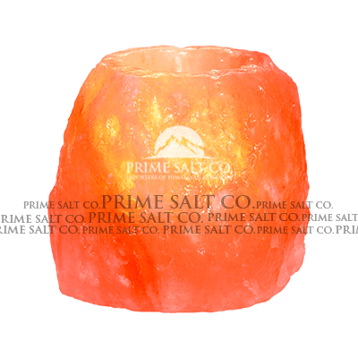 Himalayan Natural Salt Candle Holder with 1 Hole