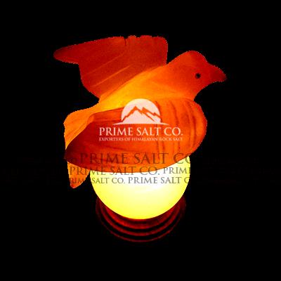 Himalayan Salt Pigeon Lamp