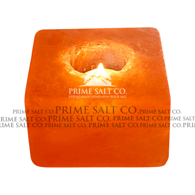 Himalayan Salt Square Candle Holder